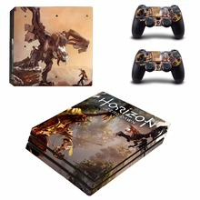 Horizon Vinyl Decal PS4 Pro Skin Stickers for Sony PlayStation 4 Pro Console and 2 Controllers Decorative Skins