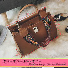 2016 New Arrival Korean Fashion Women Handbags Colorful Shoulder Straps Bags Lock Catch Messenger Bags Bolsos