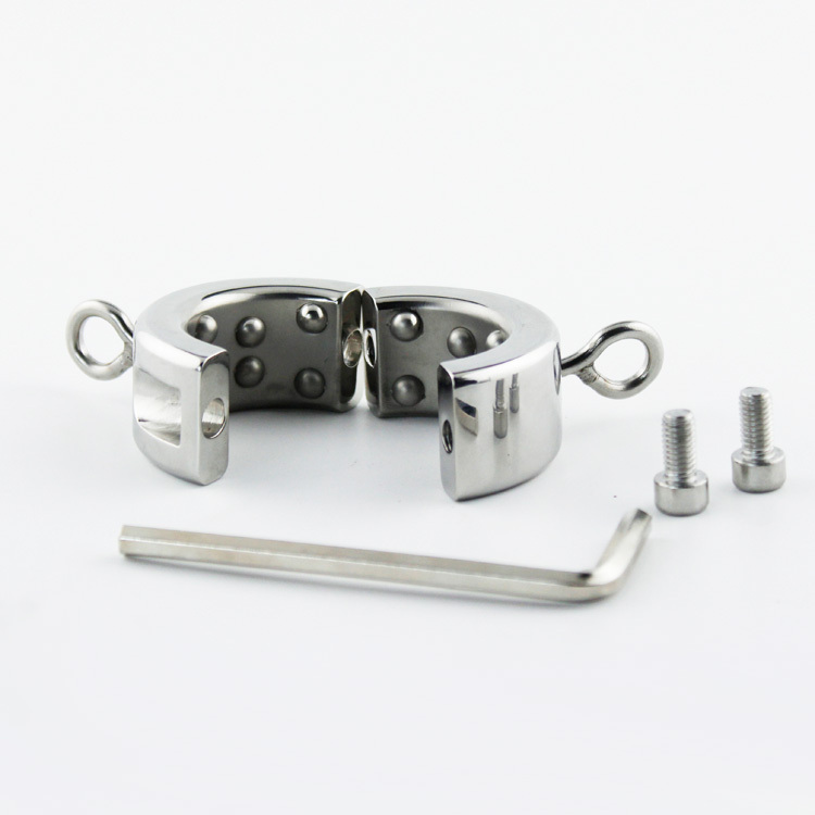 2015 Stainless steel ball scrotal load-bearing ring  penis ring testicles tied  delay locked loop delay lock ring sex ring<br>