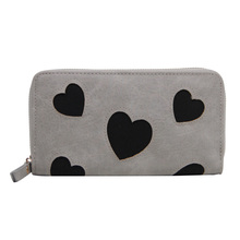 Casual Women Cute Long Wallet Card Holders Female Clutch Bags Fashion Brand PU Leather Wallets Love Heart Pattern Coin Purse