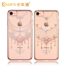 Original KAVARO Mobile Phone Cases For Apple iPhone 7 8 Plus Luxury Hard Back Cover Rhinestone Case With Crystals from Swarovski