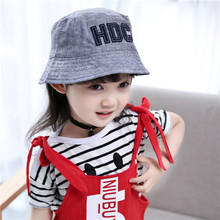 Quality Baby Sun Cap Girls Bucket Hats For Children Dark Blue Kids Summer Hats Boys Gilrs Photo Props Baby Helmet Four Seasons