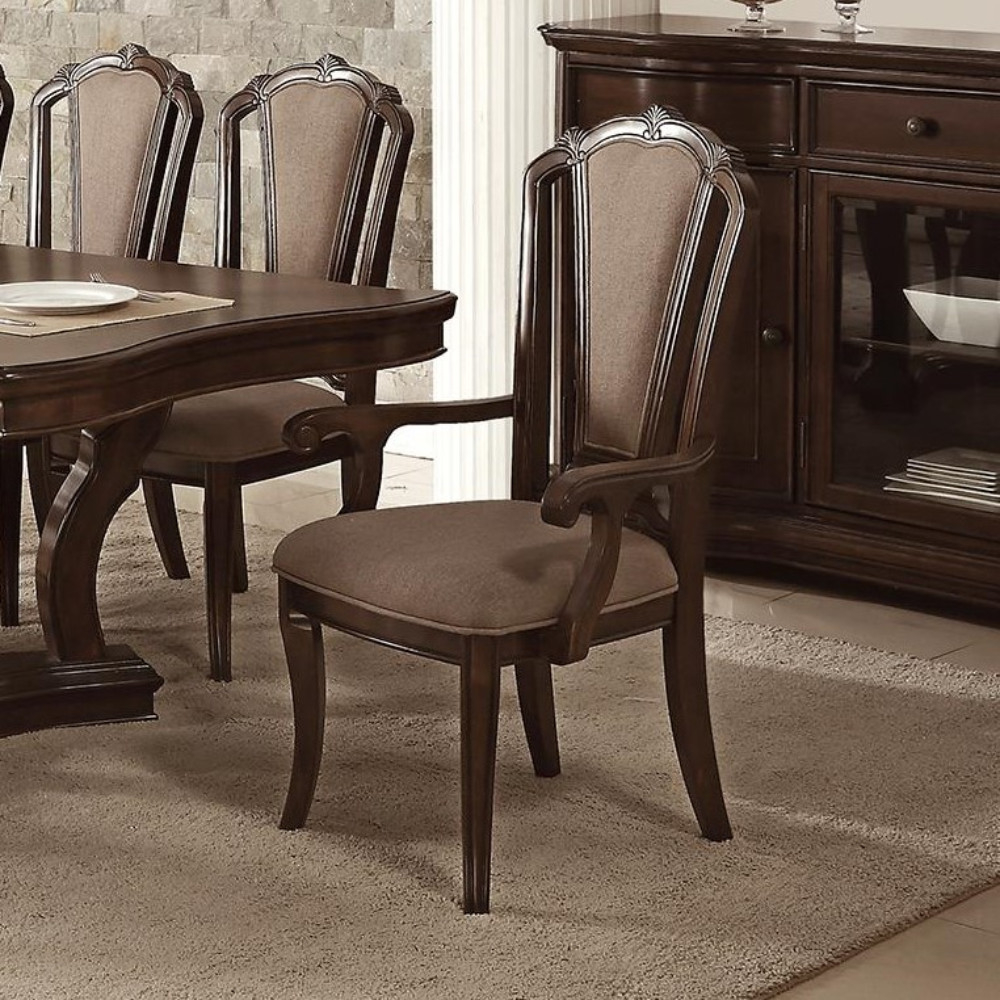 Classic Birch Wood Dining Chair With Aesthetic Back Set White