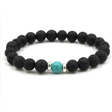 9 Colors Essential Oil Perfume Diffuser 8mm Black Lava Stone Beads Bracelet Tiger's Eye Beads Bracelet Stretch Yoga Jewelry(China)