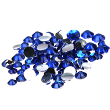 1000pcs 2-5mm And Mixed Sizes Dark Blue Resin Rhinestones Non Hotfix Glitter Beauty For Nails Art Backpack DIY Design Decoration(China)