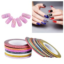 Biutee 10Pcs/lot Mixed Colors Scrub Metal Gold Silver 1mm 2mm 3mm Nail Striping Tape Line For Nails Decorations DTY Nail Decal(China)