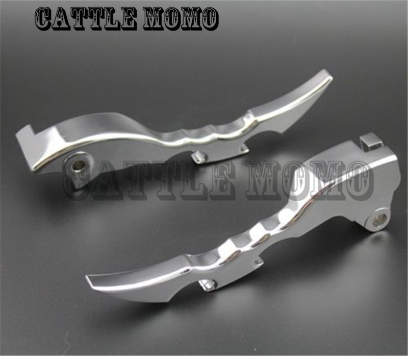 Chrome Blade Brake Clutch Levers For Suzuki Boulevard M109R 2009 2010 2011 2012 2013 1 Pair Aluminum Blade Brake Clutch Levers<br>