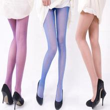Buy New Summer Women Sexy Sheer Pantyhose Stretchy Footed Tights Candy Color Stockings