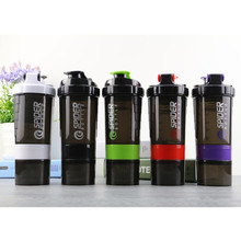 Promotion! Protein Powder Shakes Milkshake Mixing Bottle Sports Fitness Kettle Spider Protein Shaker Sports Water Bottle(China)