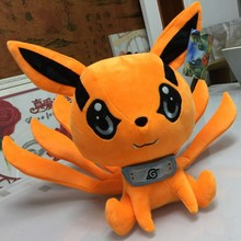 Hot 2016 New Anime Naruto Uzumaki Kyuubi Kurama Nine-Tales Fox Demon 25CM/30CM Plush Stuffed Doll Baby Toy Kids Birthday Gifts(China)