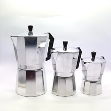 Aluminum Moka Espresso Latte Percolator Stove Top Coffee Maker Pot