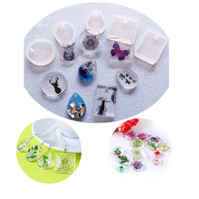 5Pcs/ Set Water Drop Epoxy Silicone Mold Forms Crystal Diamond Bracelet Pendant Jewelry Doming Mould Resin Casting Mould Craft(China)