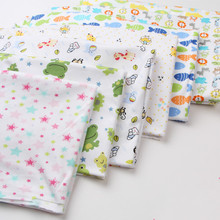 New arrival 50*180cm stretchy printed cartoon baby cotton knitted fabric newborn baby clothes bed product cotton cloth