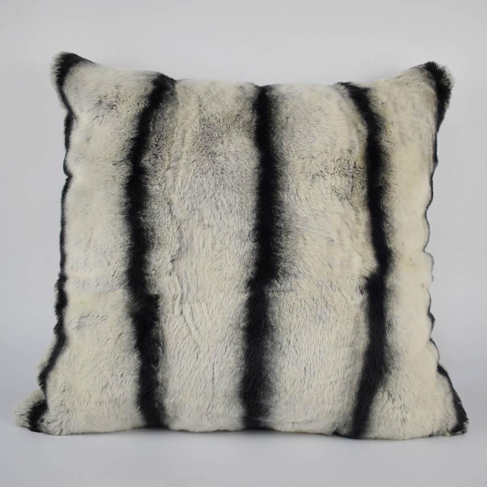 rex rabbit fur pillow 6