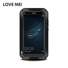 Original Love Mei Powerful Case For HUAWEI P9 Waterproof Shockproof Metal Aluminum Gorilla Glass Cover 2016 Hot Sale