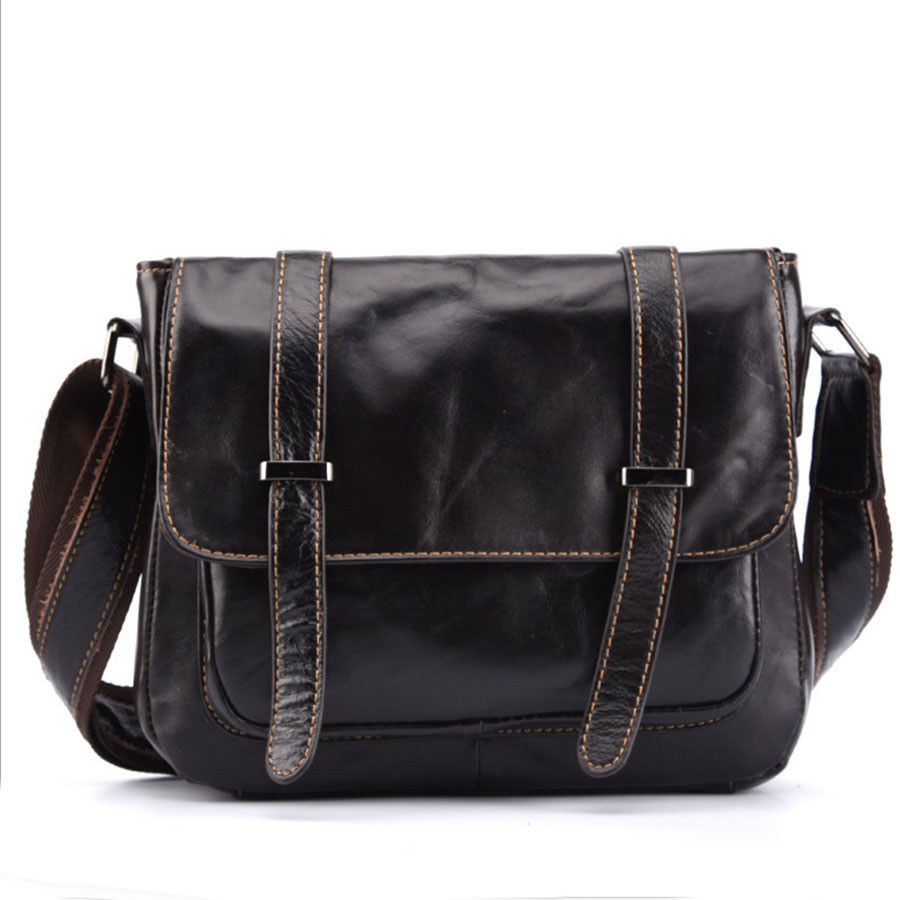 Mens Genuine leather high quality real cowhide business messenger bags casual travel shoulder bag<br>