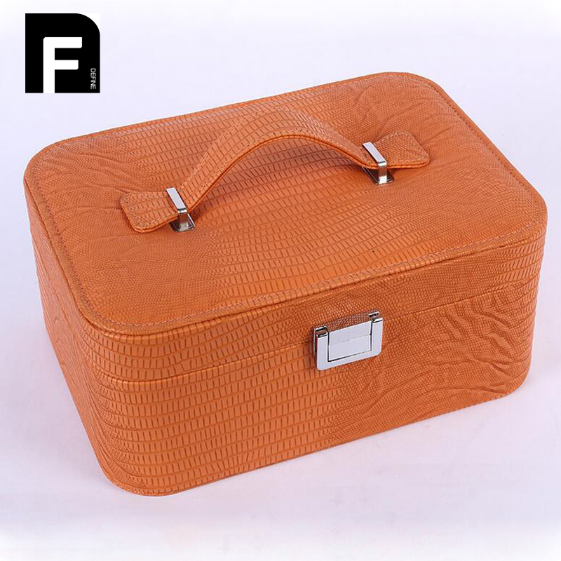 Luxury Cosmetic Bag Big Professional Toiletry Bags Travel Makeup Case Beauty Necessaries Make up Storage<br>