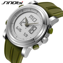 SINOBI 2017 Sports Digital Women's Wrist Watches Stock Watch Date Waterproof Chronograph Ladies Running Clocks Montres Femmes