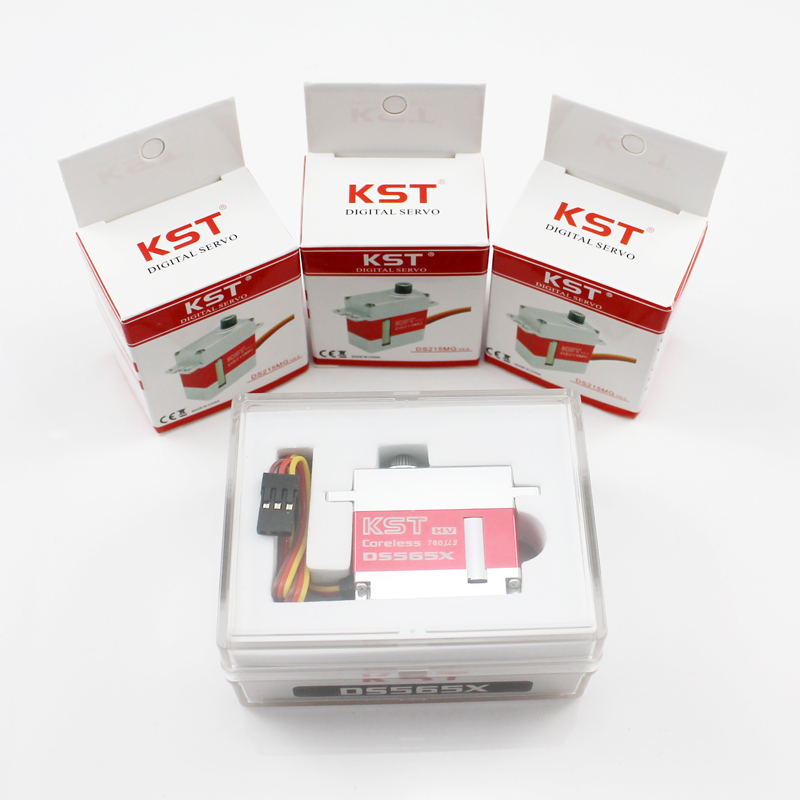KST servo 1 piece DS565X with 3Pcs DS215MG V3.0 Digital Servo For 450-500 RC Helicopter<br>