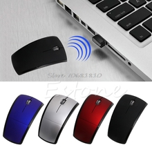 2.4G Snap-in Transceiver Fold Wireless Mouse Cordless Mice USB Folding Mouse Z07 Drop ship(China)