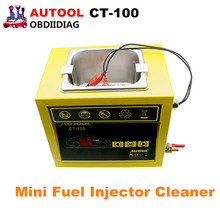 AUTOOL CT-100 MINI Fuel Injector Cleaner 110V/220V CT100 Car Motorcycle Auto Ultrasonic Injector Cleaning Tool