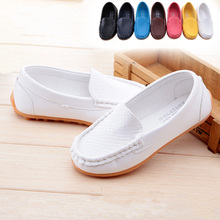 Fashion Children Shoes Kids Shoes Brand Sweet Girls boys Shoes PU Leather Loafers  Dancing Shoes black white Size 21-30 TX0271