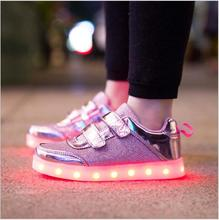 Buy 8 Color Kids Sneakers Fashion Charging Luminous Lighted Colorful LED lights Children Shoes Casual Flat Girls Boy Shoes Eur28-35 for $21.56 in AliExpress store