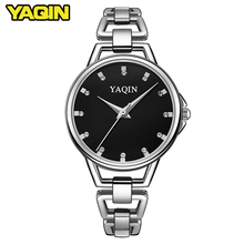 YAQIN brand women bracelet watch 2017 luxury Relojes Mujer stainless steel quartz watch ladies watch female clock Relojes Mujer