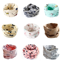 Stars children's cotton neckerchief kids boy autumn winter knitting kerchief scarf kids collars children's rings unisex(China)