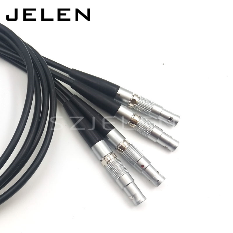 Lemo 00B 5 pin, weld with 0.7 meter cable, voice frequency connector, cable plug, MINI connector(including cable)<br>