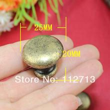 Antique jewelry box hardware Furniture Hardware Handle round red cabinet knobs drawer handle mushroom handle hole handle 25mm