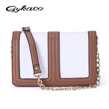 Brand Fashion Woman Bag Promotional Ladies luxury PU Leather Handbag Feminina Chain Shoulder Bag Patchwork Women Crossbody Bag(China)