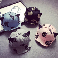 New Newborn Infant Children Cute Cat Baby Kids Winter Baseball Cap Hat Peaked Cap Children's Hats Baby Bonnet Touca Infantil T