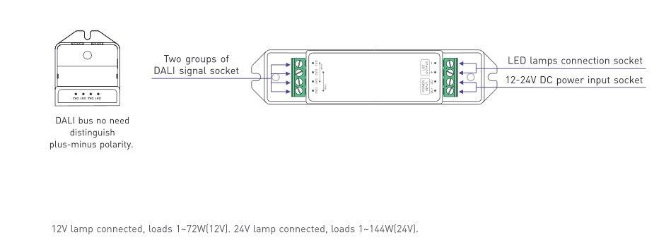 2018 Ltech Lt 401 6a Constant Voltage Dali Led Dimming Driver Dc12v ...