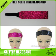 "1.5"" Glitter Solid Softball Headband Multi Colors Basketball Running Velloyball Sports(China)"