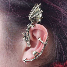 ES104 Fashion Hot Unicorn Brincos New Girls Earing Bijoux Vintage Dragon Clip Earrings For Women Jewelry Earings One Direction