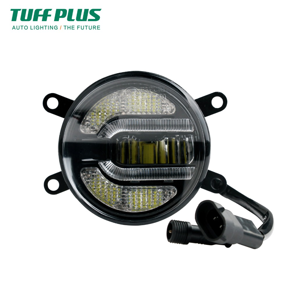 One pair 90mm for Jeep Wrangler Truck DRL 10W LED Fog Light<br>