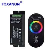 Foxanon 12V-24V 18A RGB Led Strip RF Touch Remote Controller Magic Dream Color Wireless SZ100 Dimmer Controller For 5050 3528(China)