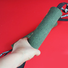 High Quality Linen Dog Training Whip 2017 New Pet Dog Canvas Bite Stick Green Bite Toys Pet Dog Product(China)