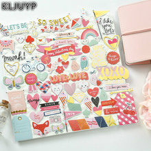 KLJUYP 70pcs So Sweet Colorful Cardstock Die Cuts for Scrapbooking/Card Making/Journaling Project DIY Craft(China)