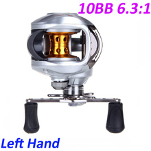 NEW 10BB 6.3:1 Left/Right BaitCasting Reel Fishing Reels 1 pc 9+1 BB Carp Fishing Reel Bait Runner Fish Reels