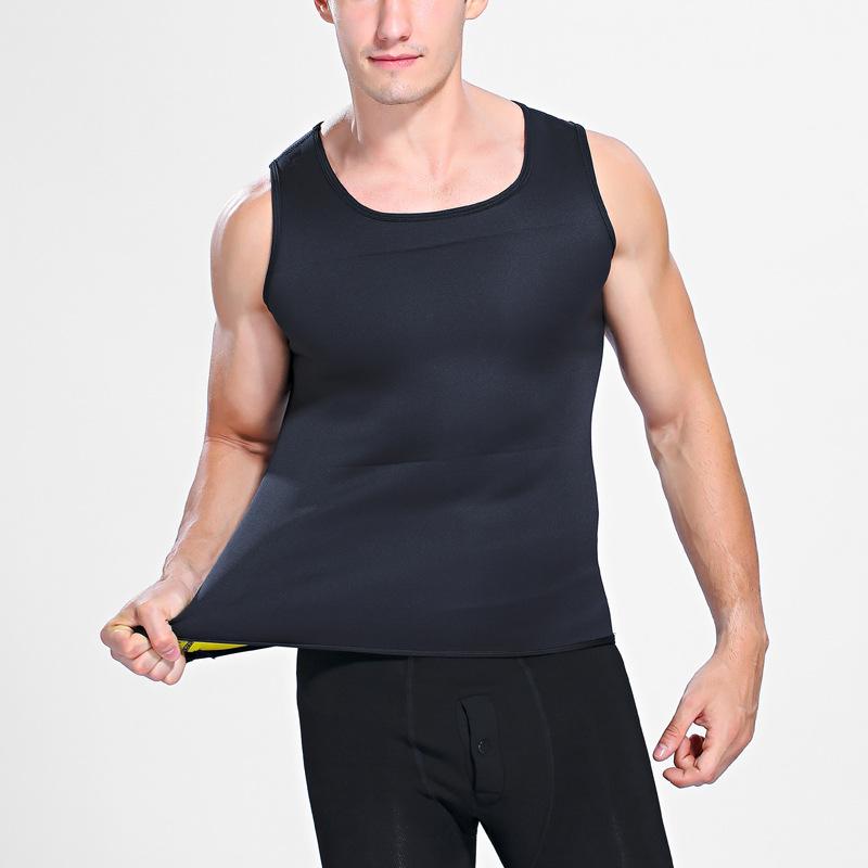 Hot Shapers Slimming T-shirt Neoprene Shaper Men Slimming Vest Body Shaper Corset Waist Trainer Belt Super Stretch Shapewear 6