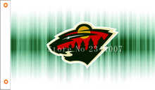 NHL Minnesota Wild Flag 3x5 FT 150X90CM Banner 100D Polyester flag , free shipping 103(China)