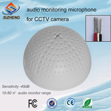 SIZHENG COTT-QD20 Factory wholesale mini dome sound monitoring video surveilance CCTV microphone for security system ip camera