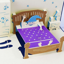 3D Card Pop Up Kids Sweet Dream Postcard Greeting Cards Laser Cut Paper Cards Gift For Birthday Children's Day Thanksgiving
