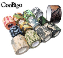 1 Roll Pick Colors Adhesive Duct Tape Camouflage Waterproof Hunting Camping Stealth Tape Wraps #FLQ047