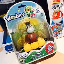Weebledown Farm Wobbly Figure and Mini Vehicle Dobbin the Horse by Character Options Tumbler Animal series toys Boy Gift