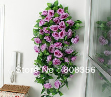 "Retail Low Price 2pcs 2.4m /94.5"" Romatic Artificial Rose Camellia Flower Garlands Wedding Christmas Decorate Vine"