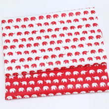 Red Elephant Cotton Fabric Printed Patchwork Fabric For Tissue Tilda Telas Sewing Baby Toy Bedding Textile Cloth Quilting sheet(China)