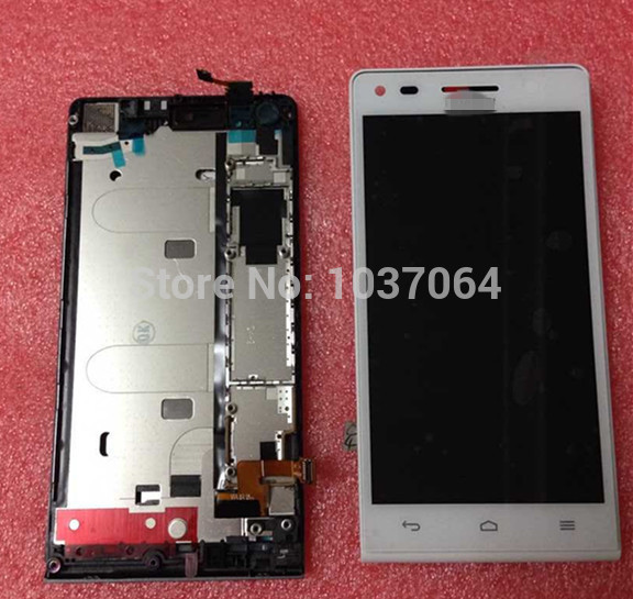 LCD screen display+Touch digitizer with metal frame For Huawei Ascend G6 (not for G6-L11) white/black  free shipping<br><br>Aliexpress